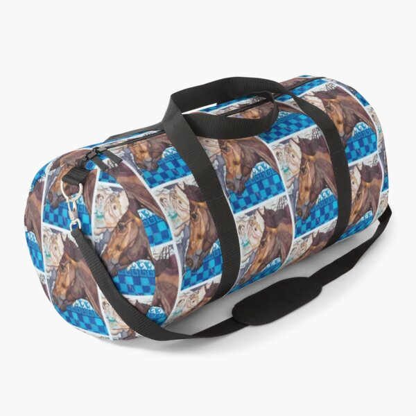 Alexander the Great's Horse Watercolor Painting Duffle Bag