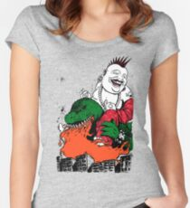Sit Down and Shut Up Artwork in Color (textless) Women's Fitted Scoop T-Shirt