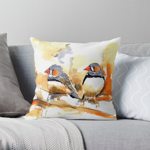 Finches Pillows Cushions Redbubble