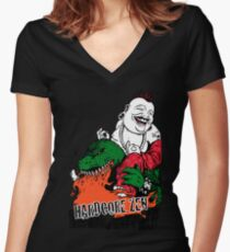 Sit Down & Shut Up Artwork in Color! Women's Fitted V-Neck T-Shirt