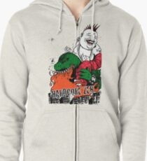 Sit Down & Shut Up Artwork in Color! Zipped Hoodie