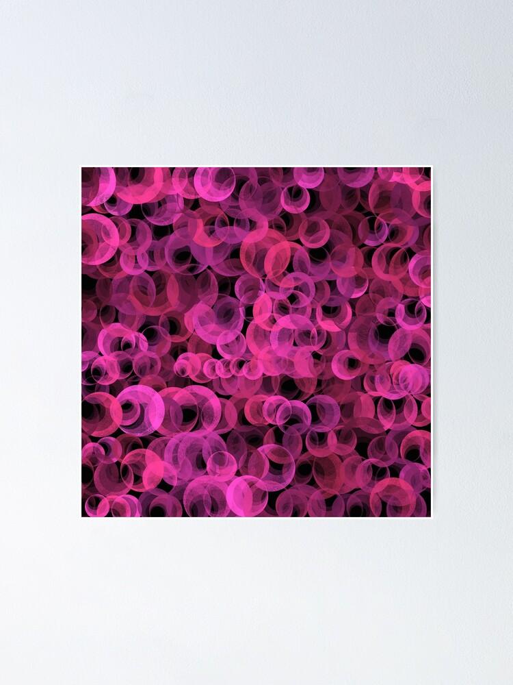 Alternate view of Disco Circles Pink Poster