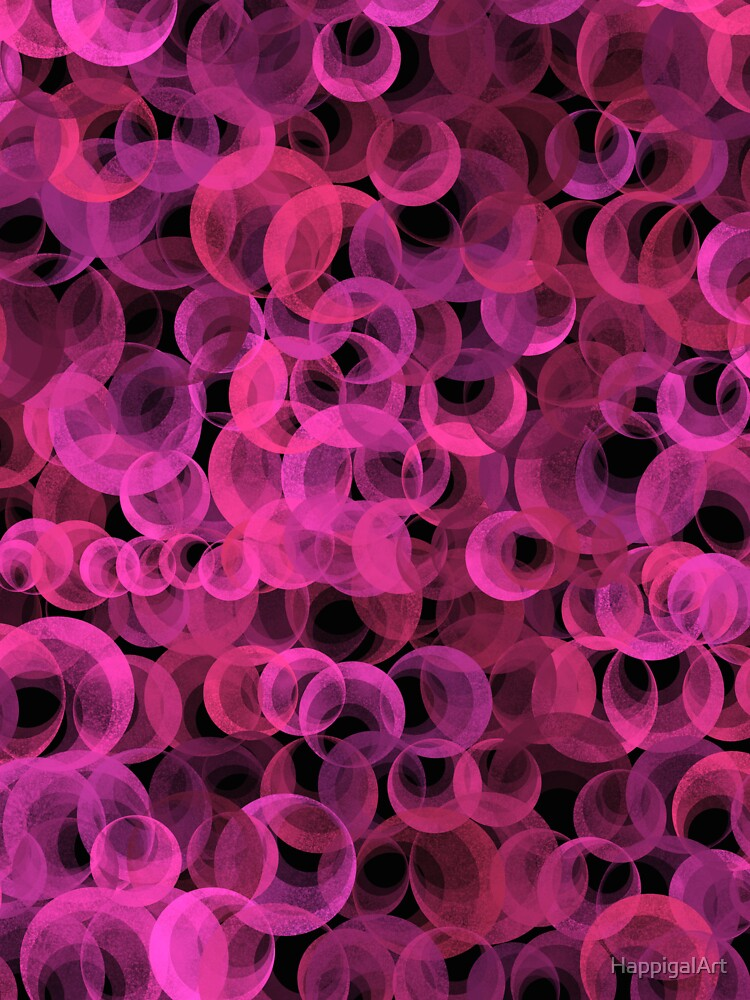 Disco Circles Pink by HappigalArt