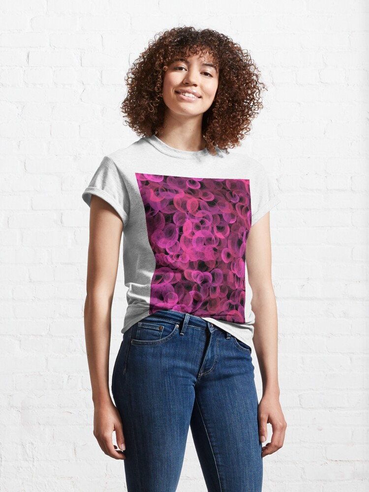 Alternate view of Disco Circles Pink Classic T-Shirt