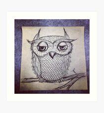 Judgmental Owl Art Print