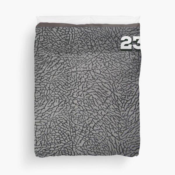 Concrete Grey Elephant Print Duvet Cover