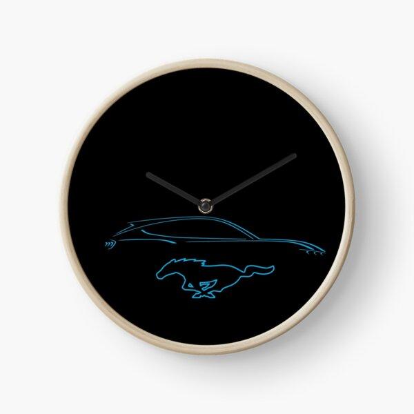 Mach-E silhouette Clock