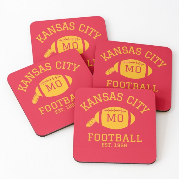 Kansas City 1960 | Vintage KC Football Missouri Retro Gift T-Shirt Coasters (Set of 4)