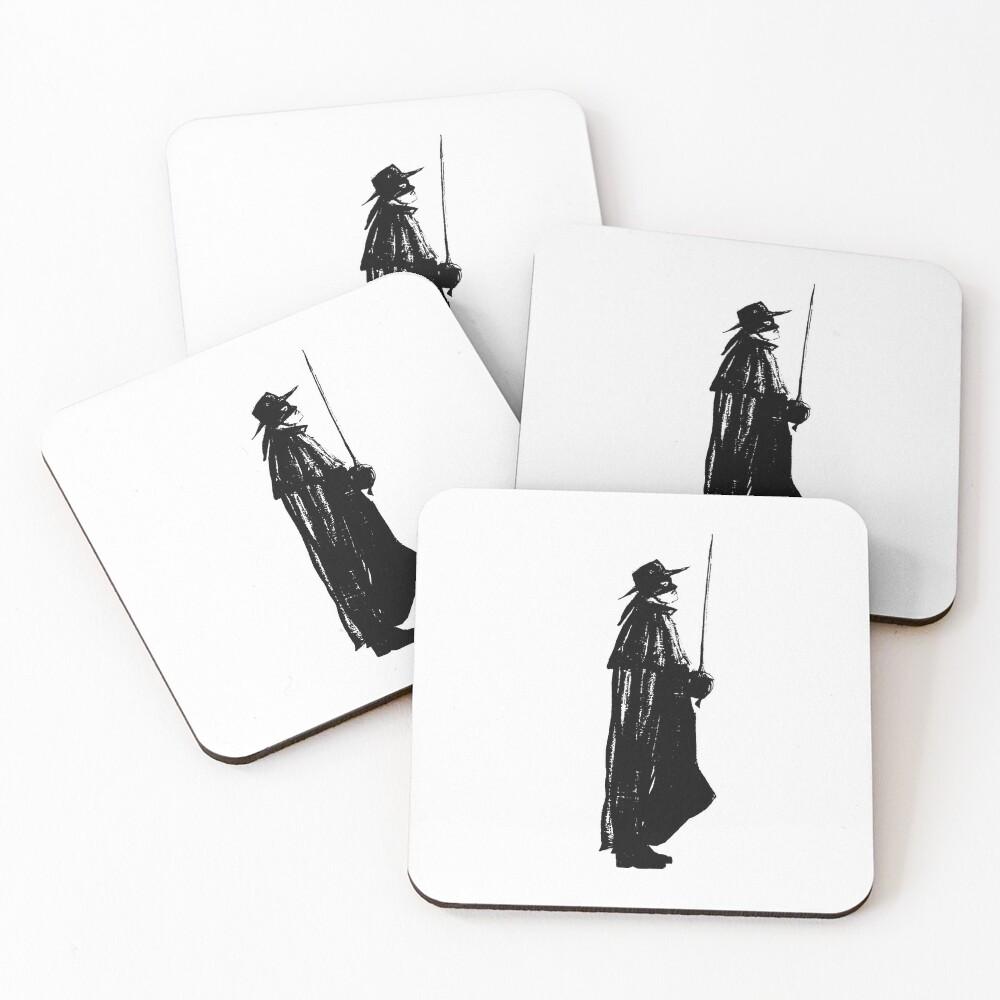 Zorro on guard Coasters (Set of 4)