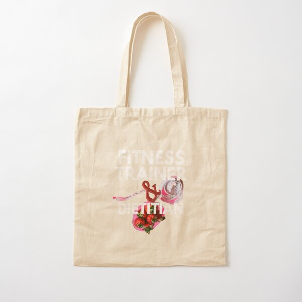 fitness trainer and dietitian Cotton Tote Bag