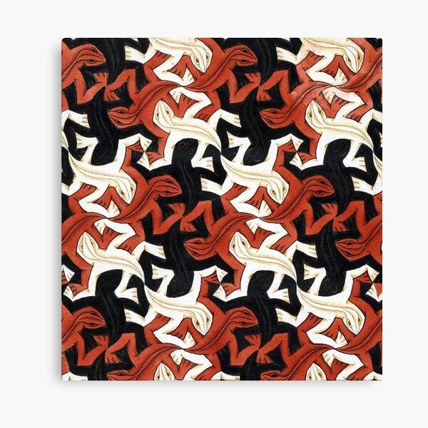 Escher lizard Canvas Print