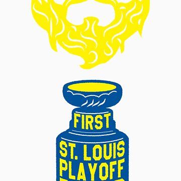 First ST. LOUIS Playoff Beard by pointandthread