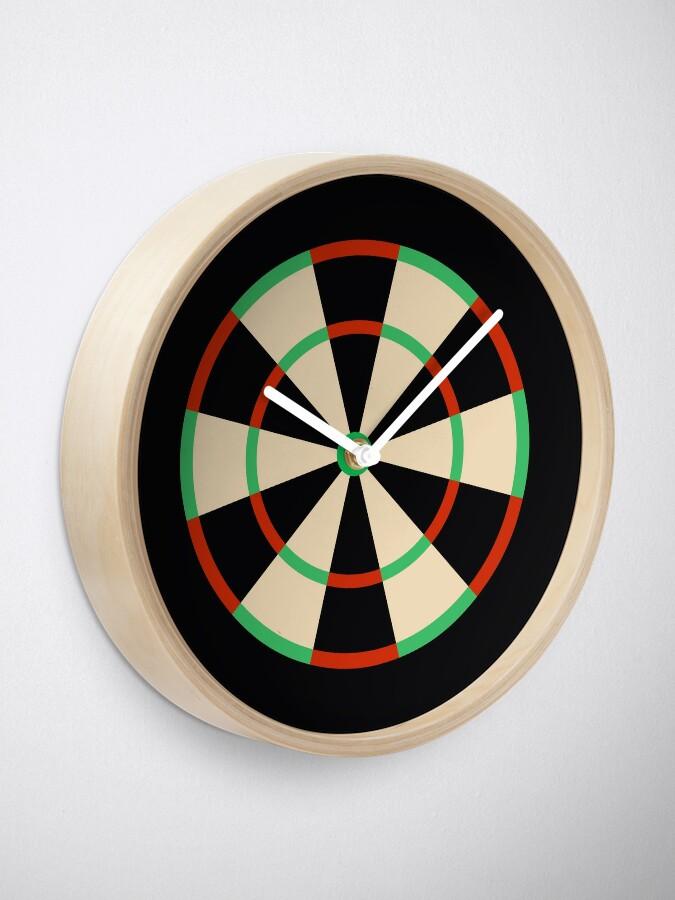 Alternate view of Wide Fives Dartboard Clock