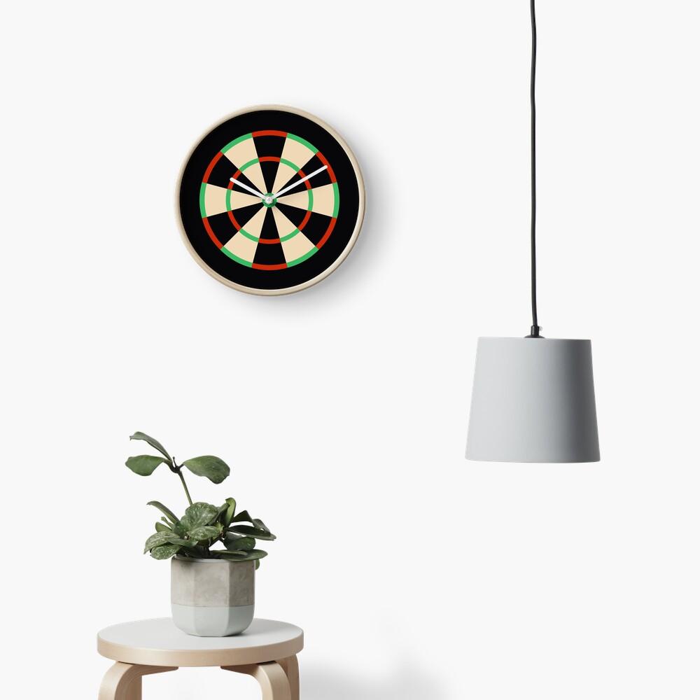 Wide Fives Dartboard Clock