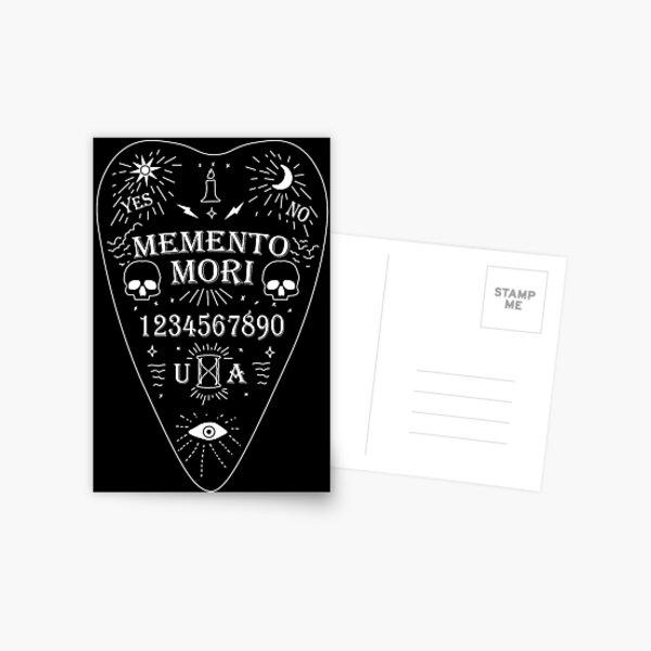 Unus Annus Ouija Board White Postcard