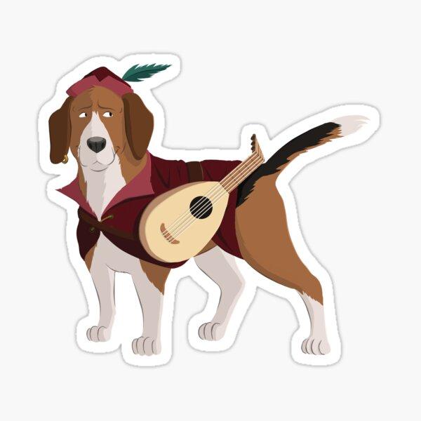Beagle Bard Sticker