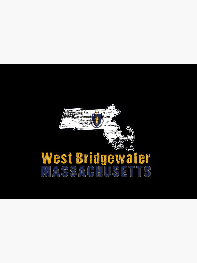 West Bridgewater Massachusetts State Distressed Flag Outline by ha10378