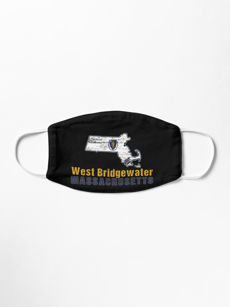 Alternate view of West Bridgewater Massachusetts State Distressed Flag Outline Mask