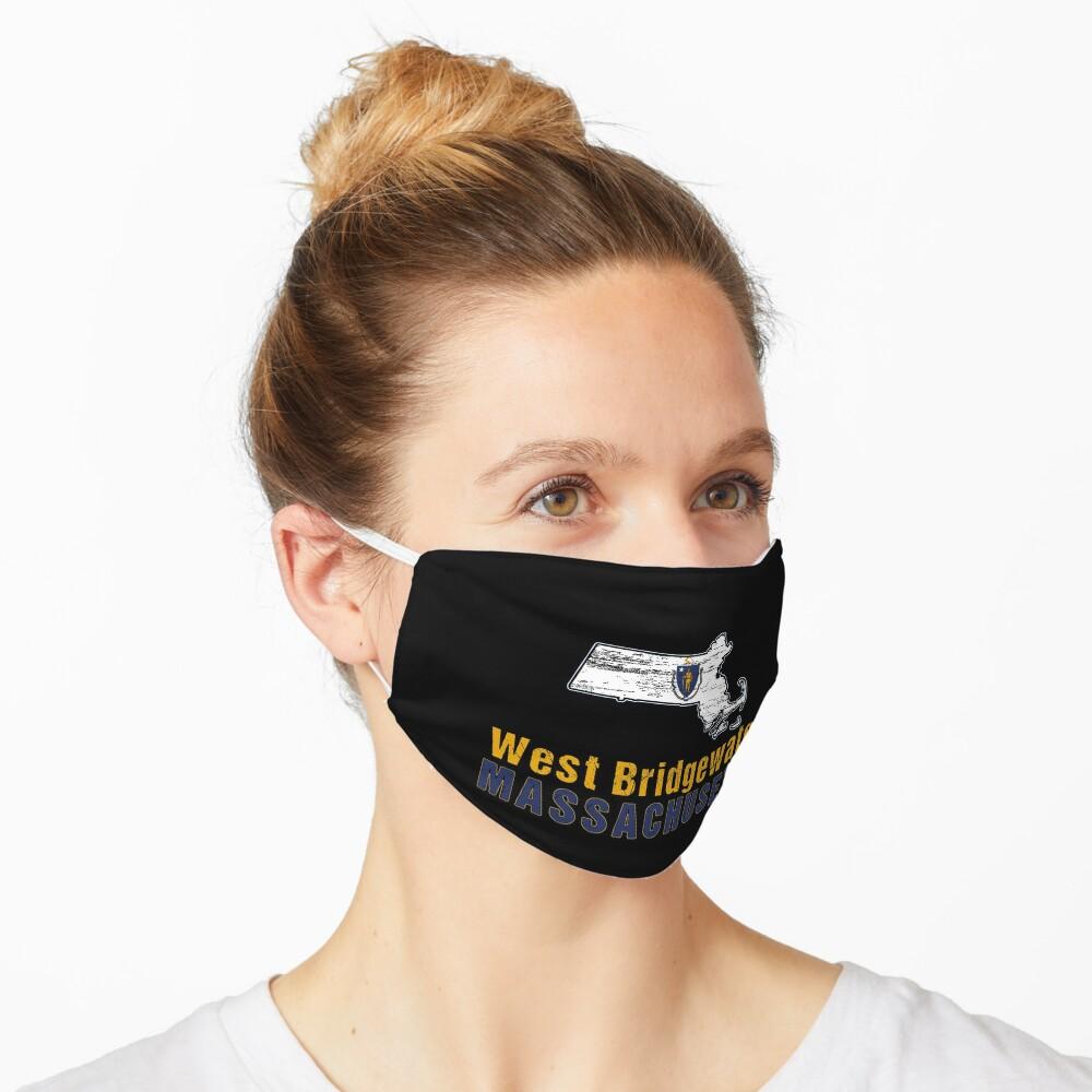 West Bridgewater Massachusetts State Distressed Flag Outline Mask