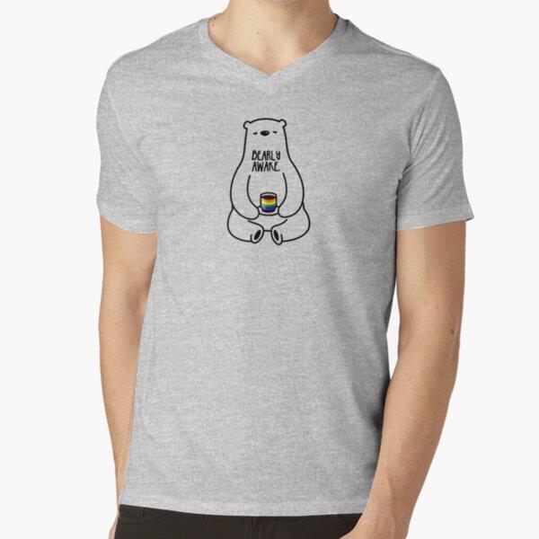 Bearly Awake V-Neck T-Shirt
