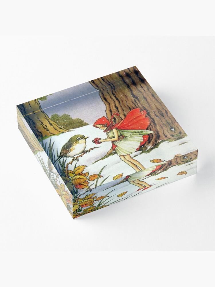 Alternate view of Winter Fairy - Ida Rentoul Outhwaite Acrylic Block