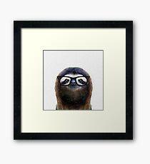 Geek Sloth Framed Print