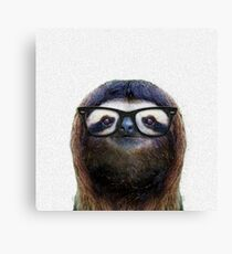 Geek Sloth Canvas Print