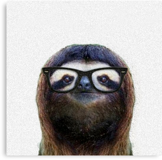 Geek Sloth by luigitarini