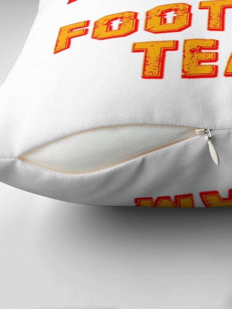 Alternate view of Kansas city football team est 1960 chiefs jersey Throw Pillow