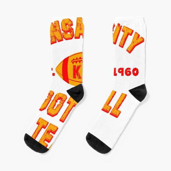 Kansas city football team est 1960 chiefs jersey Socks