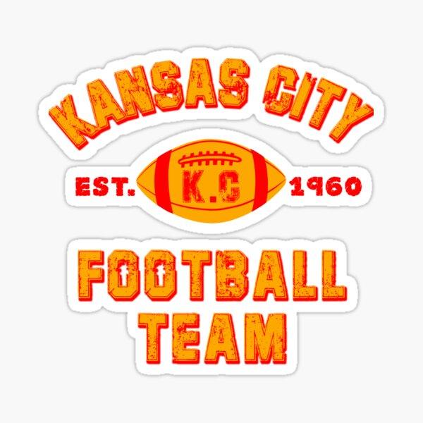 Kansas city football team est 1960 chiefs jersey Sticker