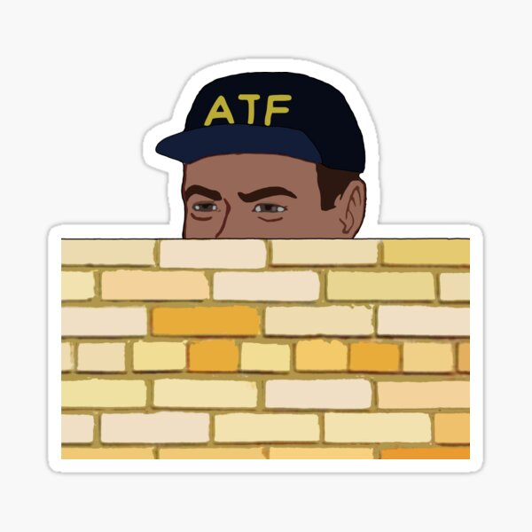 ATF Guy Fence Peeking - Meme, Gun Rights Sticker