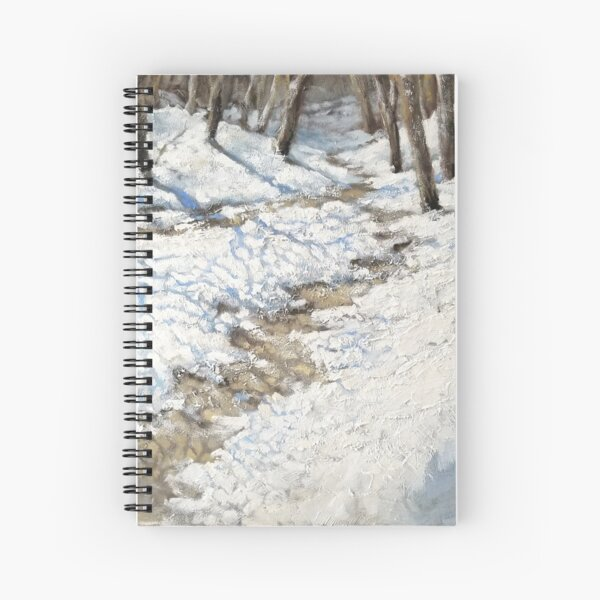 Snowy Path - Fine Art, Painting Spiral Notebook
