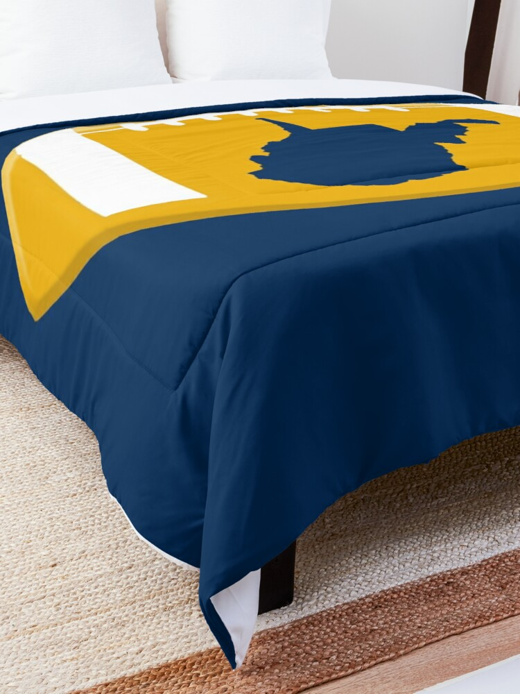 Alternate view of West Virginia Football State Map WV Shirts Stickers Comforter