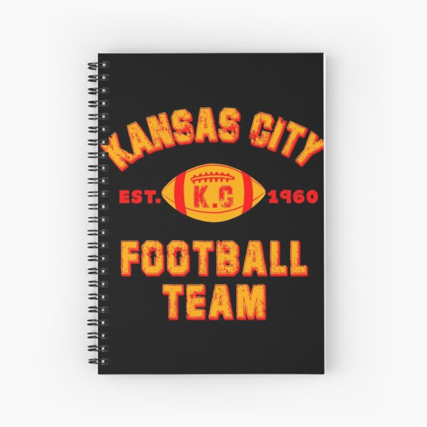 Kansas city football team est 1960 chiefs jersey Spiral Notebook