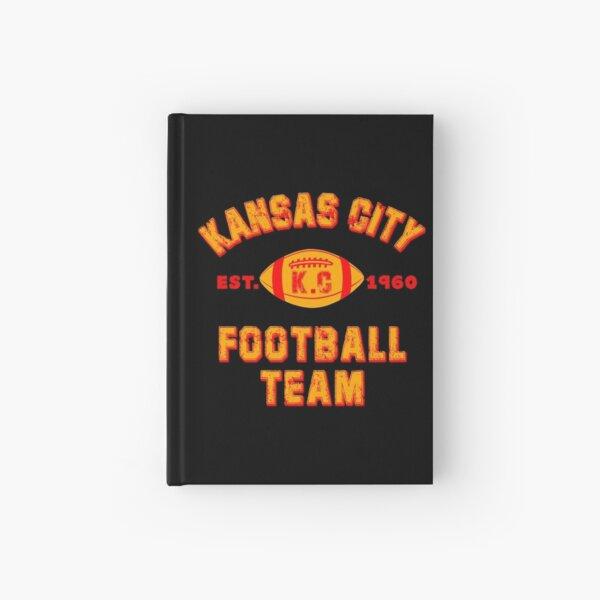 Kansas city football team est 1960 chiefs jersey Hardcover Journal