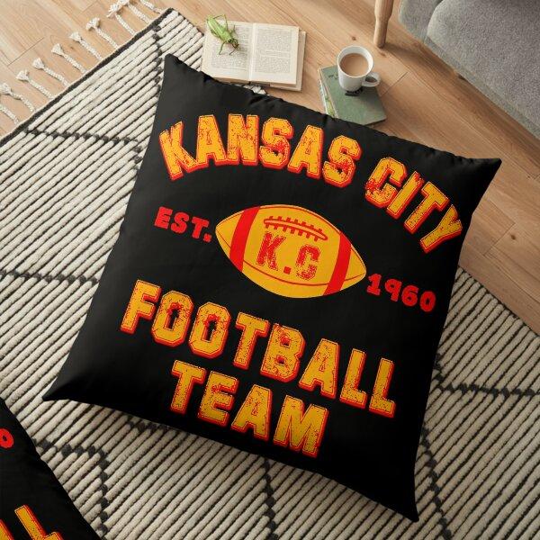 Kansas city football team est 1960 chiefs jersey Floor Pillow