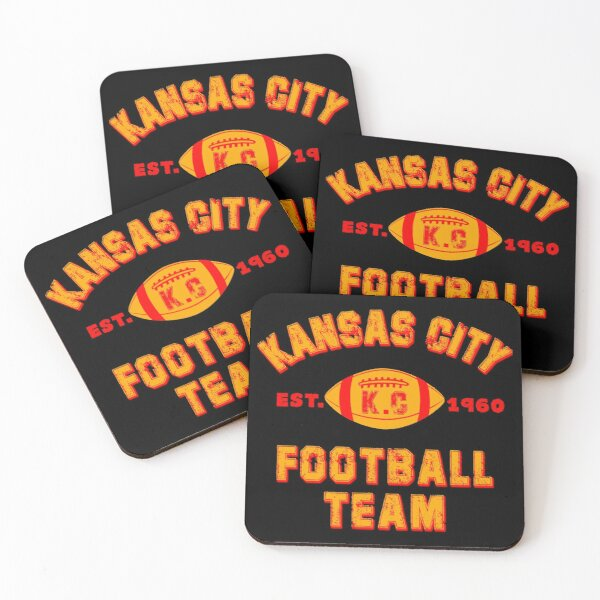 Kansas city football team est 1960 chiefs jersey Coasters (Set of 4)