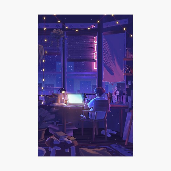 all these late nights Photographic Print