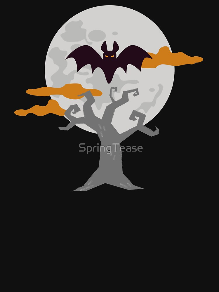 Bat Moon Spooky Halloween Tree by SpringTease