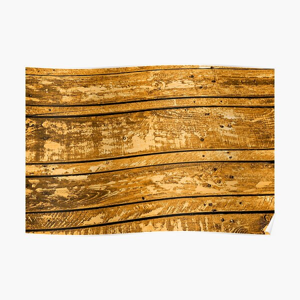 Orange wood plank texture design, creation of deco and objects Poster