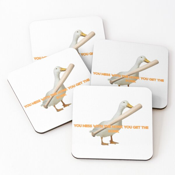 """""""You Mess With The Honk You Get The Bonk"""" Quote Coasters (Set of 4)"""