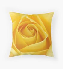 Macro Rose Bloom Flower Throw Pillow