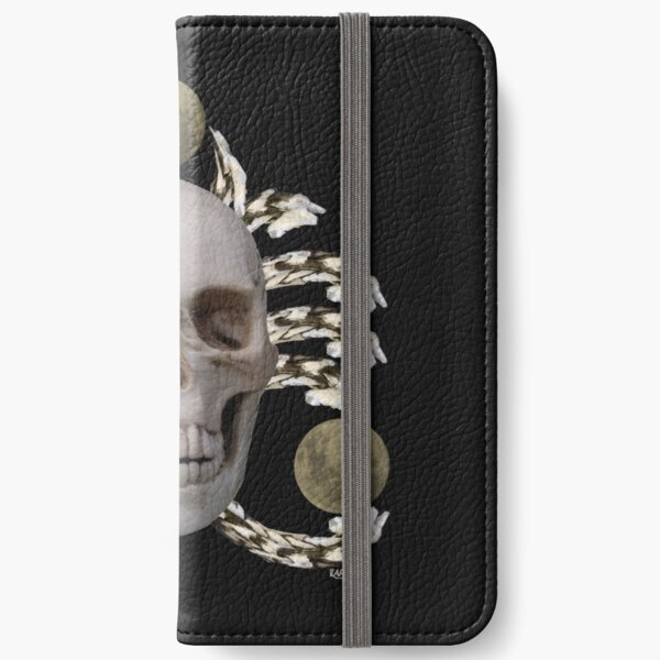Skull and the moon iPhone Wallet