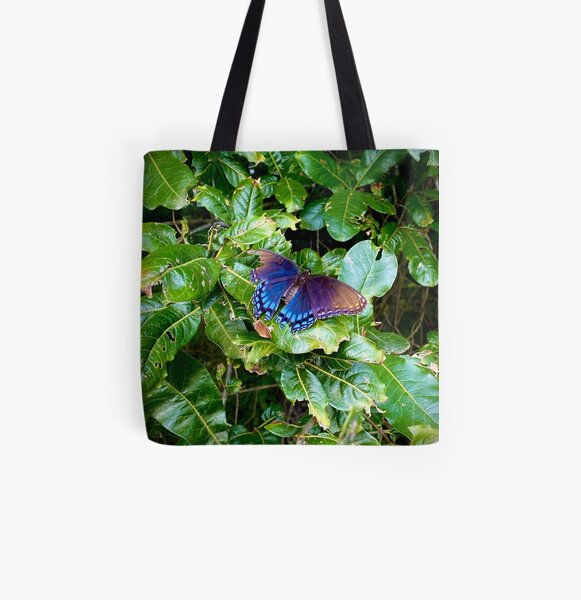 Blue and brown butterfly All Over Print Tote Bag