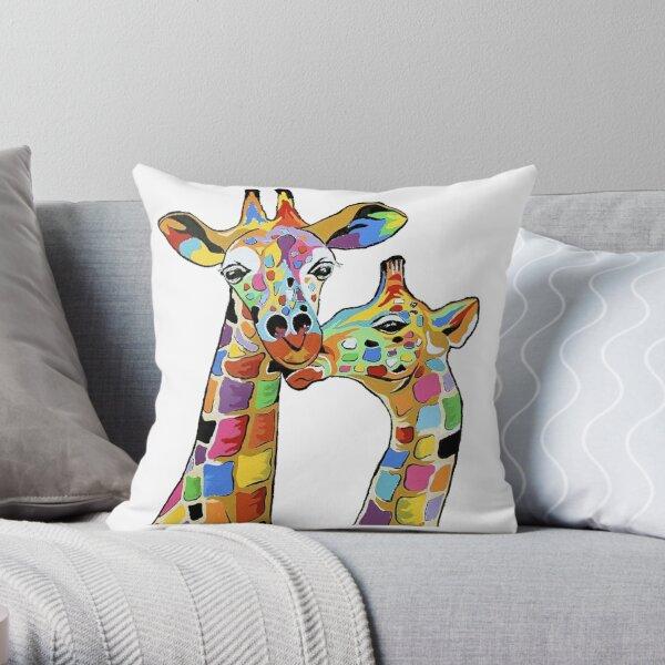 Giraffe McZoo McCoo modern Art Throw Pillow