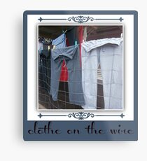 clothes on the wire Metal Print