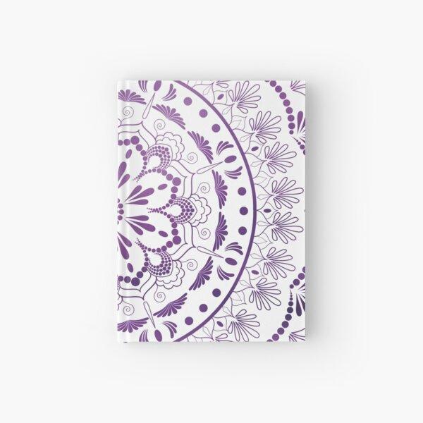 Purple Gradient Lace Mandala Hardcover Journal
