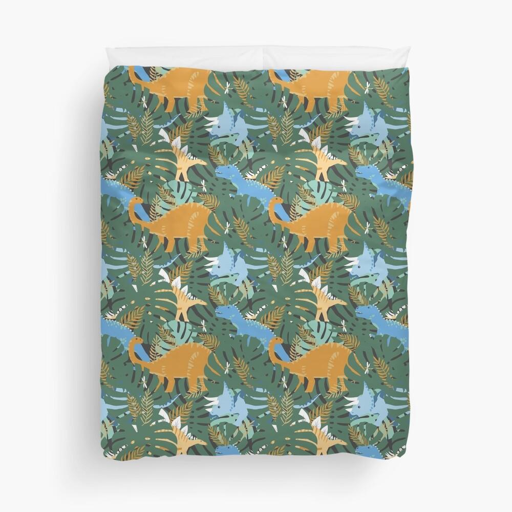 Jungle Dinosaurs Duvet Cover