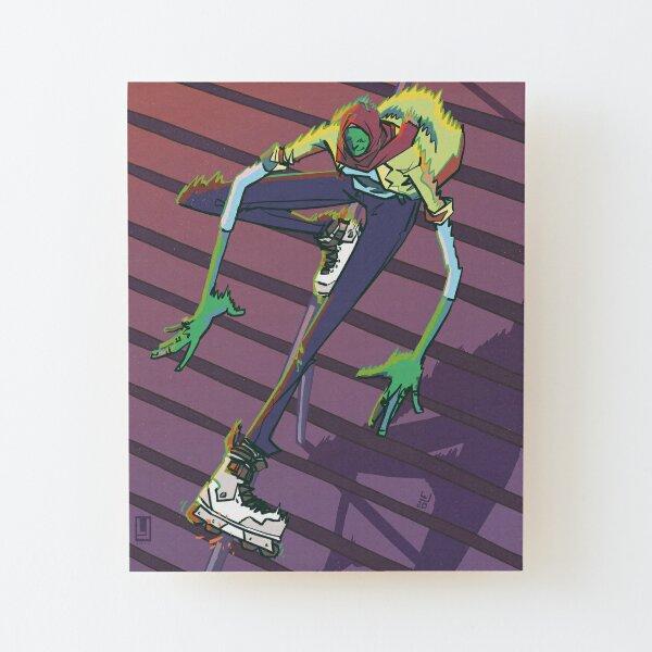 Top Acid Wood Mounted Print
